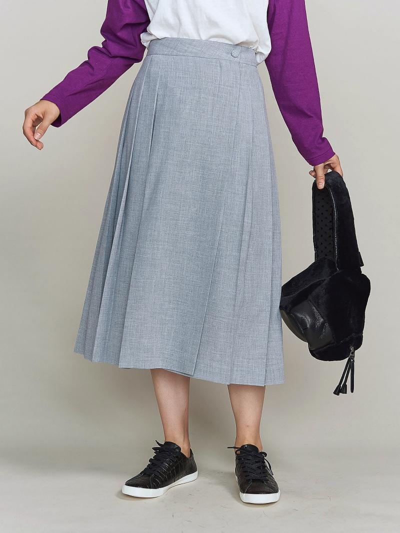 [Rakuten BRAND AVENUE]BY ツイルラッププリーツスカート BEAUTY & YOUTH UNITED ARROWS ビューティ&ユース ユナイテッドアローズ スカート【送料無料】