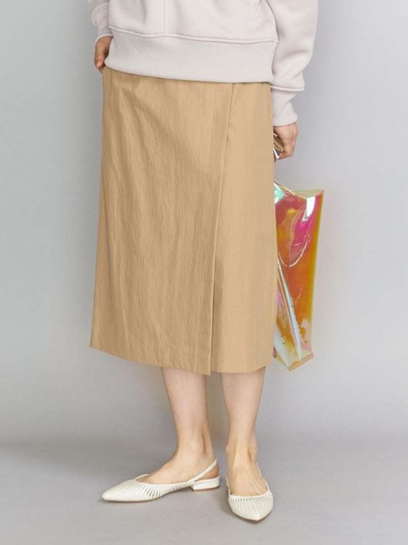 [Rakuten Fashion]【SALE/30%OFF】BYコットンナイロンツイルラップスカート BEAUTY & YOUTH UNITED ARROWS ビューティ&ユース ユナイテッドアローズ スカート ロングスカート ベージュ グリーン ネイビー【RBA_E】【送料無料】