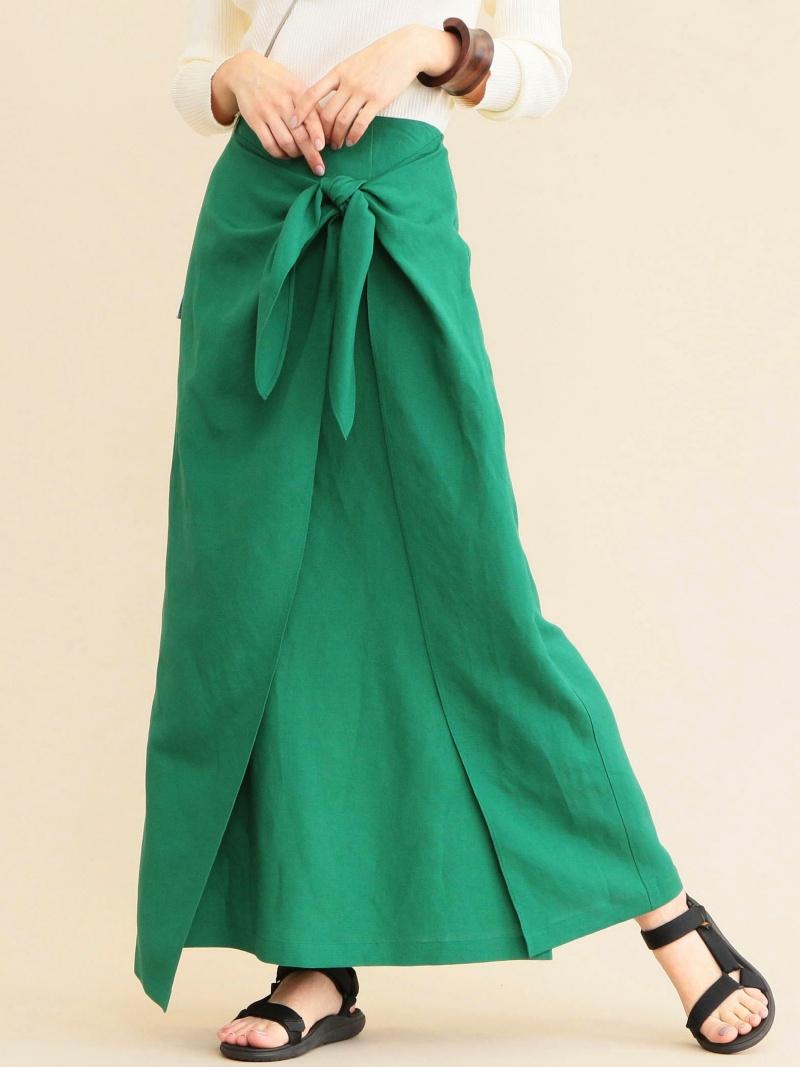 [Rakuten BRAND AVENUE]BY∴ ノットラップマキシスカート BEAUTY & YOUTH UNITED ARROWS ビューティ&ユース ユナイテッドアローズ スカート【送料無料】