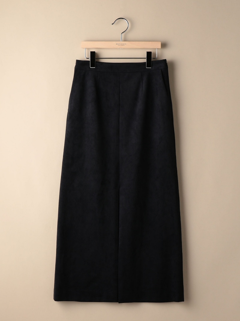 [Rakuten BRAND AVENUE]BY スウェードライクフロントスリットスカート BEAUTY & YOUTH UNITED ARROWS ビューティ&ユース ユナイテッドアローズ スカート【送料無料】