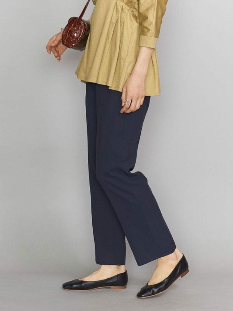 [Rakuten Fashion]BYオックスストレートパンツ BEAUTY & YOUTH UNITED ARROWS ビューティ&ユース ユナイテッドアローズ パンツ/ジーンズ フルレングス ネイビー ベージュ【送料無料】
