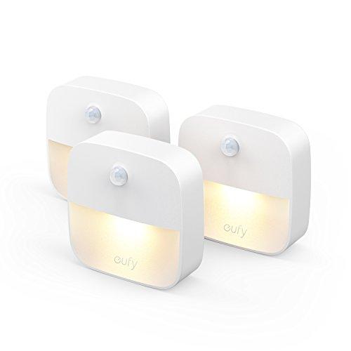 上質 Anker Eufy Lumi LEDセンサーライト モーションセンサー搭載 3個セット 卓抜 どこでも設置可能