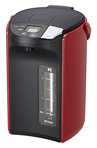 タイガー魔法瓶 TIGER 激安価格と即納で通信販売 電気ポット 3.0L 蒸気レス VE レッド とく子さん まほうびん 返品不可 電気 PIP-A300-R