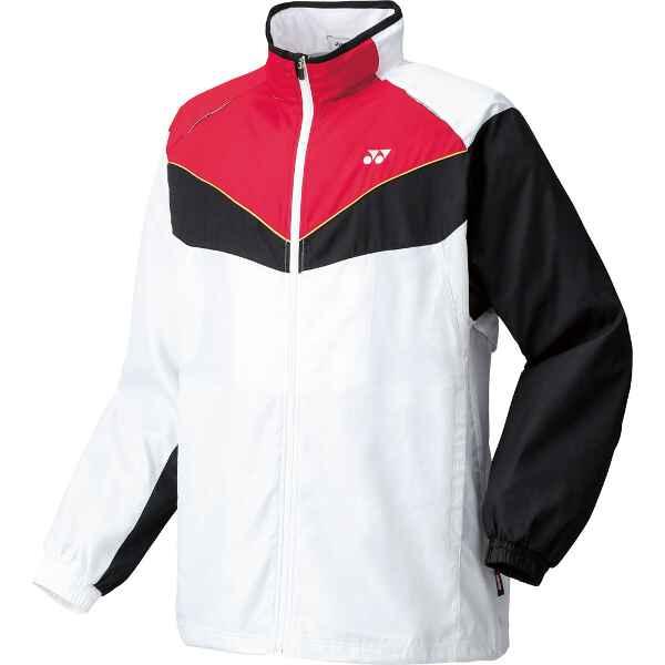 【ヨネックス】 スポーツウェア 裏地付ユニウィンドウォーマーシャツ 70049 [カラー:ホワイト] [サイズ:L] #70049-011 【スポーツ・アウトドア:テニス:メンズウェア:ジャージ:アウター】
