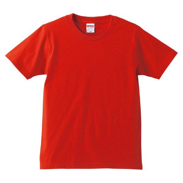 5.0オンス レギュラーフィットTシャツ(キッズ) カラー [カラー:レッド] [サイズ:140] #5401-02C-69