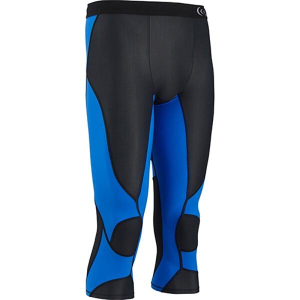 【シースリーフィット】 インパクトエアー3/4タイツ(メンズ) コンプレッションウェア [カラー:ブラック×ブルー] [サイズ:XL] #3F15328-KB 【スポーツ・アウトドア:スポーツ・アウトドア雑貨】