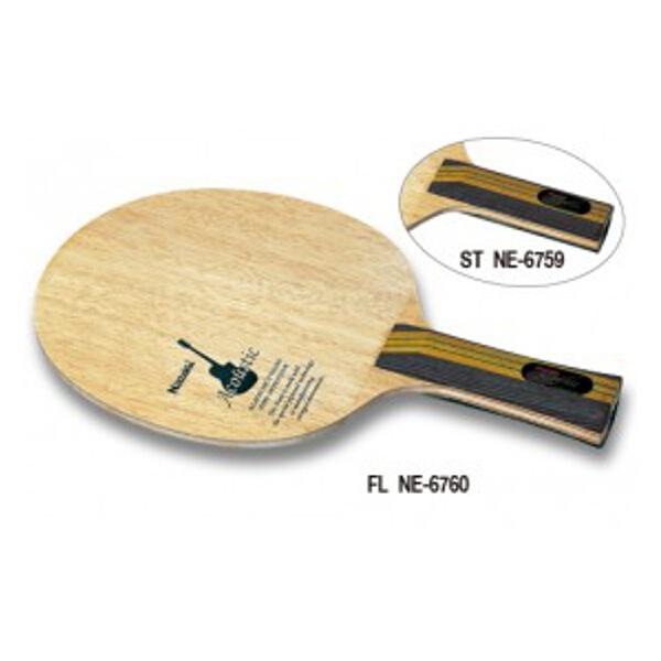 【ニッタク】 アコースティック FL 卓球ラケット #NE-6760 【スポーツ・アウトドア:その他雑貨】