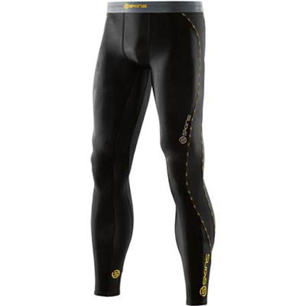 【スキンズ】 DNAmic メンズ ロングタイツ 日本正規品 [カラー:ブラック×イエロー] [サイズ:XL] #DK9905001-BKYL 【スポーツ・アウトドア:スポーツ・アウトドア雑貨】
