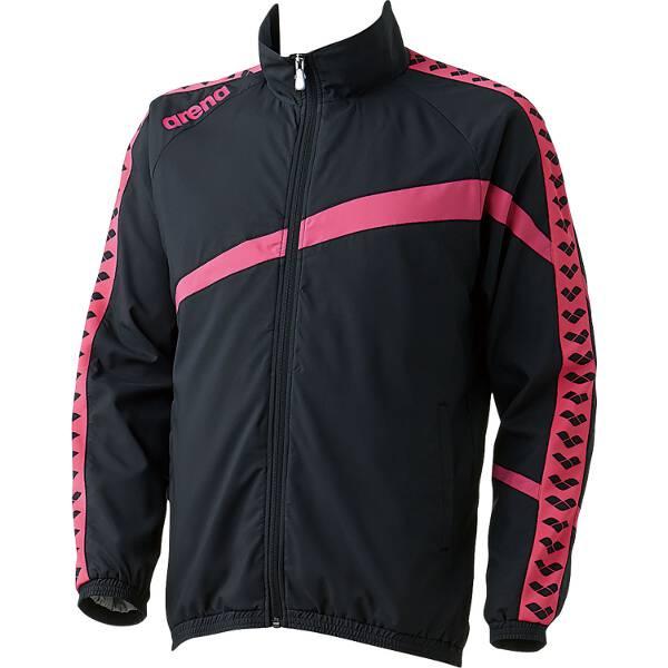 【アリーナ】 ウィンドジャケット [サイズ:SS] [カラー:ブラック×ピンク] #ARN-6300-BKPK 【スポーツ・アウトドア:その他雑貨】