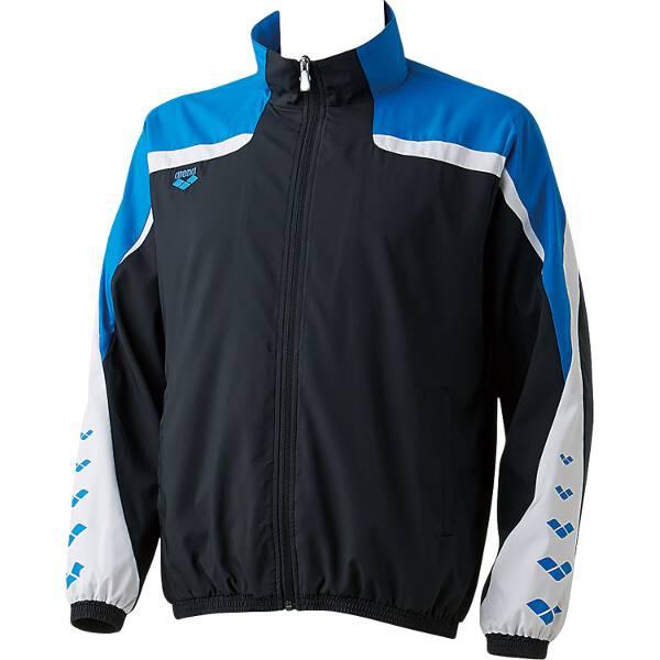 【アリーナ】 ウィンドジャケット [サイズ:SS] [カラー:ブラック×ブルー] #ARN-6310-BKBU 【スポーツ・アウトドア:その他雑貨】