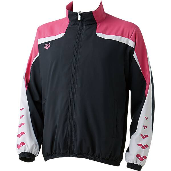 【アリーナ】 ウィンドジャケット [サイズ:S] [カラー:ブラック×ピンク] #ARN-6310-BKPK 【スポーツ・アウトドア:その他雑貨】