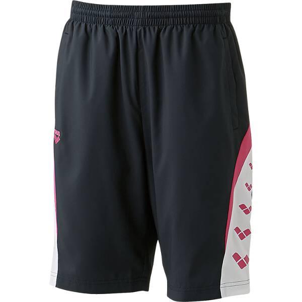【アリーナ】 ウィンドハーフパンツ [サイズ:L] [カラー:ブラック×ピンク] #ARN-6312P-BKPK 【スポーツ・アウトドア:その他雑貨】