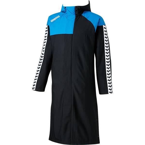 【アリーナ】 ロングコート [サイズ:S] [カラー:ブラック×ブルー] #ARN-6330-BKBU 【スポーツ・アウトドア:その他雑貨】