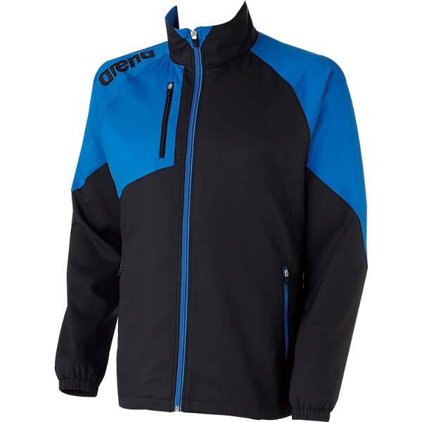 【アリーナ】 クロスジャケット [サイズ:SS] [カラー:ブラック×ブルー] #ARN-4300-BKBU 【スポーツ・アウトドア:スポーツ・アウトドア雑貨】