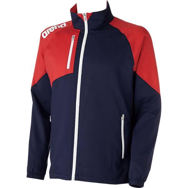 【アリーナ】 クロスジャケット [サイズ:L] [カラー:ダークネイビー×レッド] #ARN-4300-DNRD 【スポーツ・アウトドア:スポーツ・アウトドア雑貨】