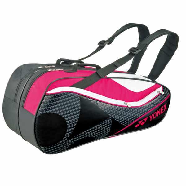 【ヨネックス】 ラケットバッグ6(リュック付) テニスラケット6本用 BAG1722R [カラー:ブラック×ピンク] #BAG1722R-181 【スポーツ・アウトドア:テニス:ラケットバッグ】