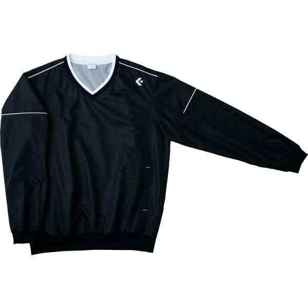 【コンバース】 ウォームアップジャケット(裾ボックス仕様) CB162501S [カラー:ブラック×ホワイト] [サイズ:M] #CB162501S-1911 【スポーツ・アウトドア:その他雑貨】