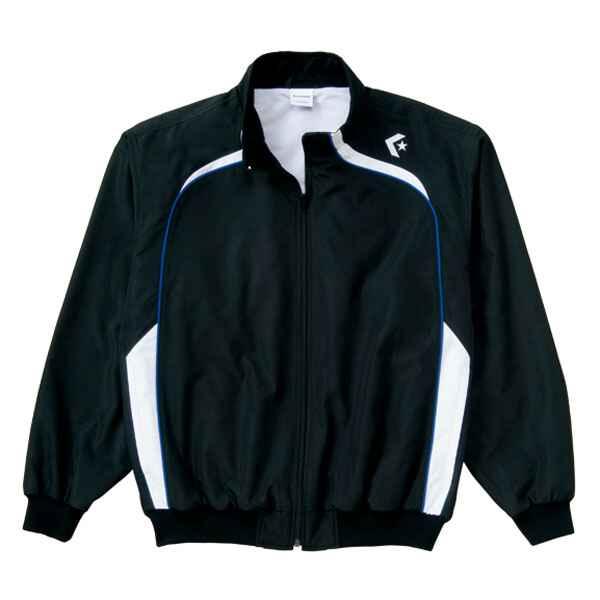 【コンバース】 ウォームアップジャケット(裾フライス仕様) CB162502S [カラー:ブラック×ホワイト] [サイズ:O] #CB162502S-1911 【スポーツ・アウトドア:その他雑貨】