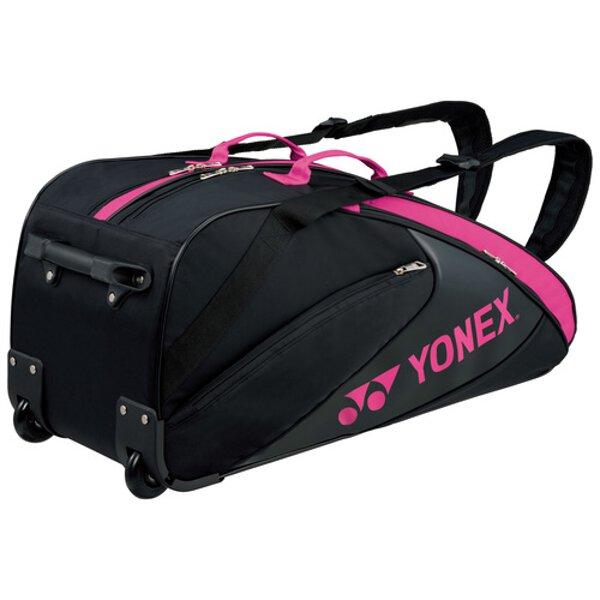 【ヨネックス】 ラケットバッグ(キャスター付) テニスラケット6本用 [カラー:ブラック×ピンク] #BAG1732C-181 【スポーツ・アウトドア:テニス:ラケットバッグ】