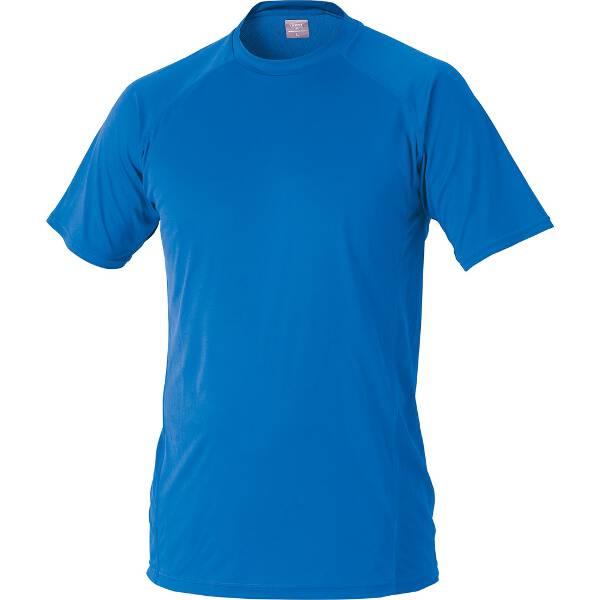 ハイブリッドアンダーシャツ ローネック半袖 [サイズ:2XO] [カラー:オーシャンブルー] #BO1710-2301