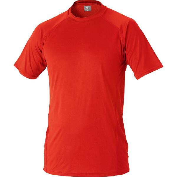ハイブリッドアンダーシャツ ローネック半袖 [サイズ:S] [カラー:レッド] #BO1710-6400