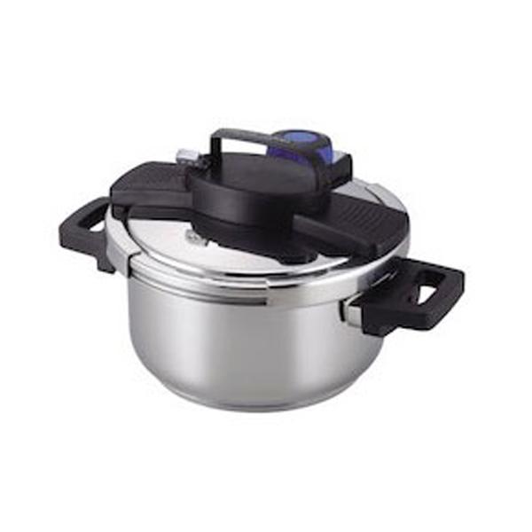 【パール金属】 3層底 ワンタッチレバ― 圧力鍋 4L 【キッチン用品:調理用具・器具:圧力鍋】