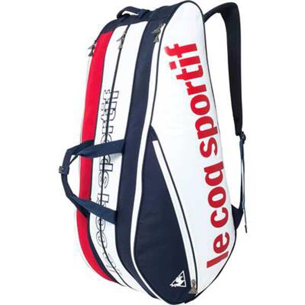 【ルコックスポルティフ】 ラケットバッグ テニスラケット9本収納可 [カラー:トリコロール] #QAT641375-TRC 【スポーツ・アウトドア:テニス:ラケットバッグ】