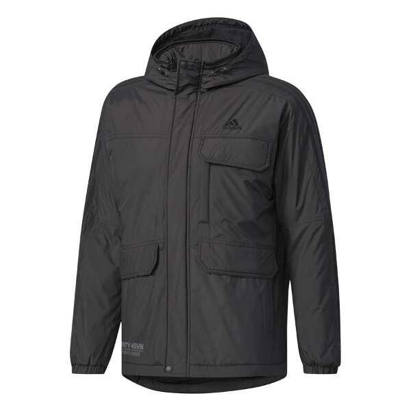 M adidas 24/7 中綿ウインドブレーカージャケット [サイズ:S] [カラー:ブラック] #DUQ95-CD2897