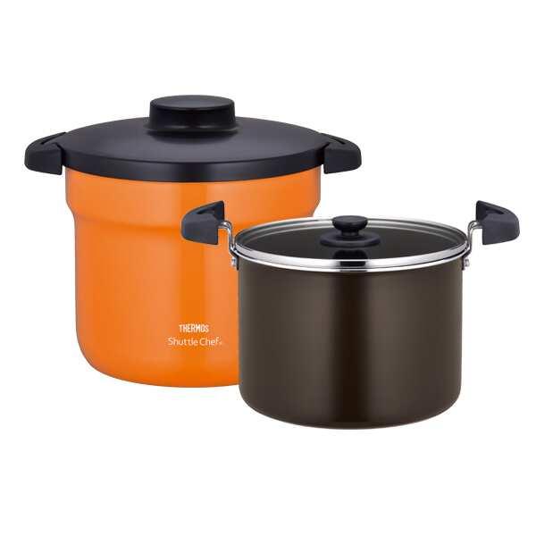 【サーモス】 真空保温調理器シャトルシェフ KBJ4500 [容量:4.3L] [カラー:オレンジ] #KBJ-4500-OR 【キッチン用品:調理機器】