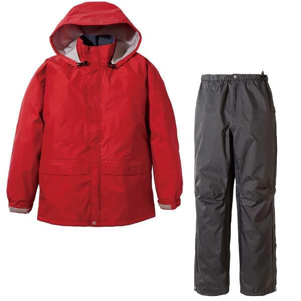 【プロモンテ】 ゴアテックス レインスーツ メンズ [サイズ:XL] [カラー:レッド×チャコール] #SR135M-RD 【スポーツ・アウトドア:スポーツ・アウトドア雑貨】