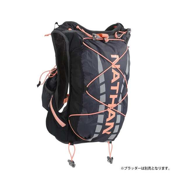 【ネイサン】 ベイパーエアレス 7L(ハイドレーション別売モデル) [カラー:ブラック×フュージョンコーラル] [サイズ:XS] #NS4527X-0428 【スポーツ・アウトドア:アウトドア:バッグ:バックパック・リュック】