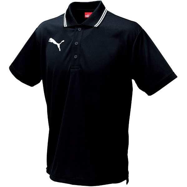 ライン入り半袖ポロシャツ [サイズ:XXL] [カラー:ブラック] #864221-07