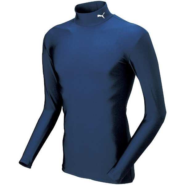 COMPRESSION ジュニアモックネック LSシャツ [サイズ:160] [カラー:ネイビー×ホワイト] #920481-02