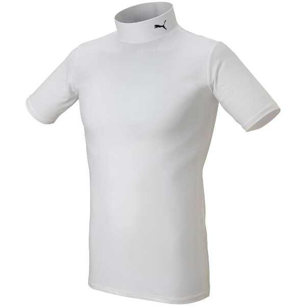 COMPRESSION モックネック SSシャツ [サイズ:3XL] [カラー:ホワイト×ブラック] #920582-13