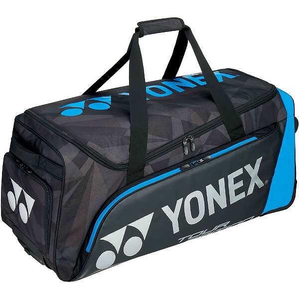 【ヨネックス】 キャスターバッグ(テニスラケット3本収納可) [カラー:ブラック×ブルー] [サイズ:80×60×34cm] #BAG1800C-188 【スポーツ・アウトドア:テニス:ラケットバッグ】