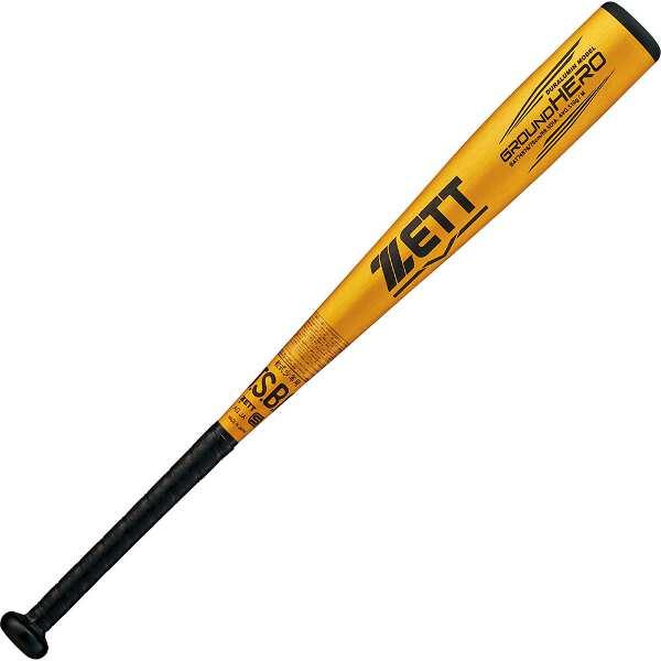 【ゼット】 少年軟式野球金属製バット グランドヒーロ― 76cm510g平均 [カラー:ゴールド] #BAT74876-8200 【スポーツ・アウトドア:野球・ソフトボール:バット:キッズ・ジュニア用バット】