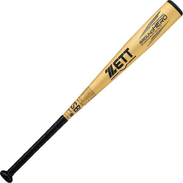 【ゼット】 少年軟式野球金属製バット グランドヒーロ― 80cm530g平均 [カラー:シャンパンゴールド] #BAT74880-8201 【スポーツ・アウトドア:野球・ソフトボール:バット:キッズ・ジュニア用バット】
