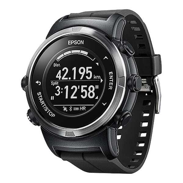 【エプソン】 WristableGPS(リスタブルGPS) J-350B 脈拍計測機能搭載GPSウォッチ [カラー:ブラック] #J350B 【スポーツ・アウトドア:ジョギング・マラソン:ギア】