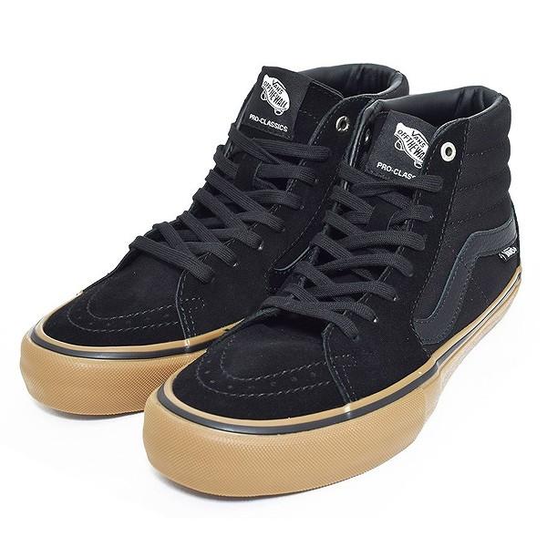 【5%off+最大3000円offクーポン(要獲得) 5/19 9:59まで】 【送料無料】 バンズ スケートハイ プロ [サイズ:28cm(US10)] [カラー:ブラック×ガム] #VN000VHGB9M 【バンズ: 靴 メンズ靴 スニーカー】【VANS VANS SK8-HI PRO BLACK/GUM】