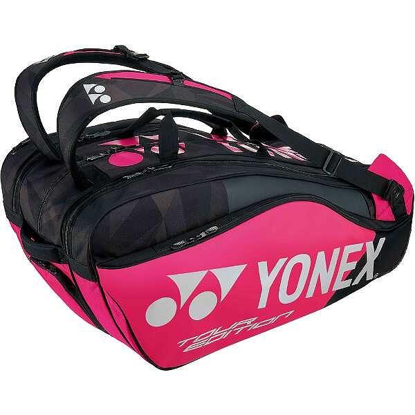【ヨネックス】 ラケットバッグ9(リュック付) テニスラケット9本用 [カラー:ブラック×ピンク] #BAG1802N-181 【スポーツ・アウトドア:テニス:ラケットバッグ】