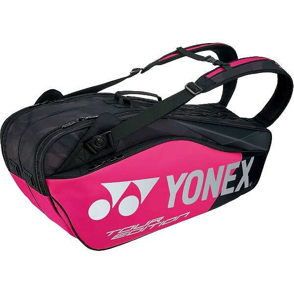 【ヨネックス】 ラケットバッグ6(リュック付) テニスラケット6本用 [カラー:ブラック×ピンク] #BAG1802R-181 【スポーツ・アウトドア:テニス:ラケットバッグ】