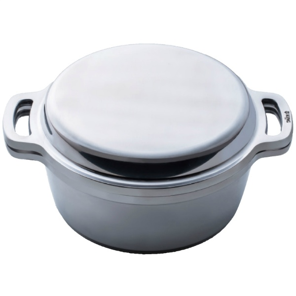 【広島アルミニウム工業】 KING 無水鍋 24cm 600034 【キッチン用品:調理用具・器具:両手鍋:21cm~25cm:IH対応】