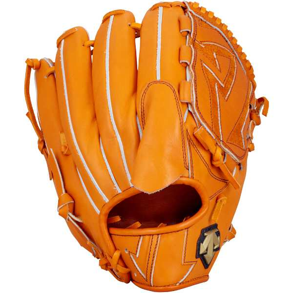 【デサント】 硬式野球グラブ 投手用(左投げ用) [カラー:オレンジ] #DBBLJG40-ORG 【スポーツ・アウトドア:野球・ソフトボール:グローブ・ミット】
