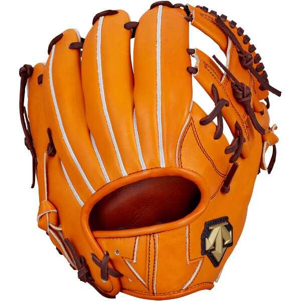 【デサント】 硬式野球グラブ セカンド・ショート用(右投げ用) [カラー:オレンジ] #DBBLJG44-ORG 【スポーツ・アウトドア:野球・ソフトボール:グローブ・ミット】