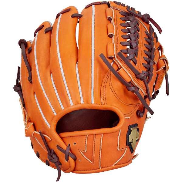 【デサント】 軟式グラブ ショート・セカンド用(右投げ用) [カラー:オレンジ] #DBBLJG56-ORG 【スポーツ・アウトドア:野球・ソフトボール:グローブ・ミット】