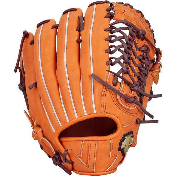 【デサント】 軟式グラブ 外野手用(右投げ用) [カラー:オレンジ] #DBBLJG57-ORG 【スポーツ・アウトドア:スポーツ・アウトドア雑貨】