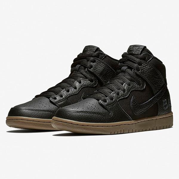 【ナイキ】 ナイキSB ズーム ダンク HIGH PRO QS [サイズ:24.5cm(US6.5)] [カラー:ブラック×アンスラサイト] #AH9613-001 【靴:メンズ靴:スニーカー】【AH9613-001】