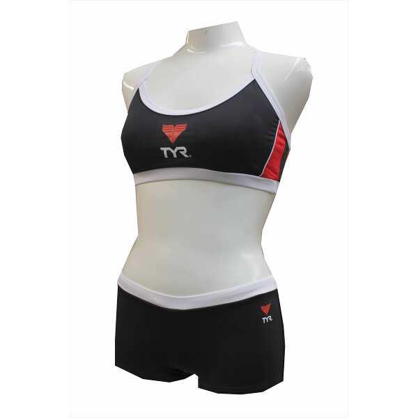 【ティア】 ウィメンズ ライフガード ワークアウトビキニ [サイズ:XL] [カラー:ブラック] #WSURF-10M-BK 【スポーツ・アウトドア:マリンスポーツ】