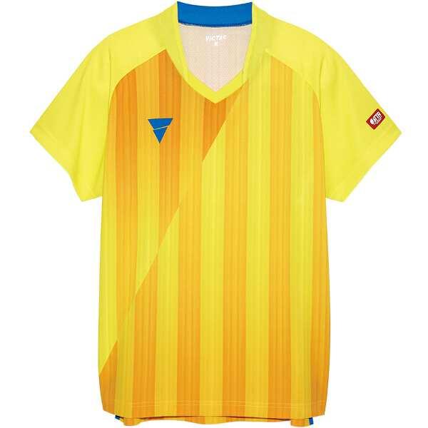 【ビクタス】 V‐NGS052 ユニセックス ゲームシャツ [サイズ:3XL] [カラー:イエロー] #031467-0400 【スポーツ・アウトドア:卓球:ウェア:メンズウェア:シャツ】