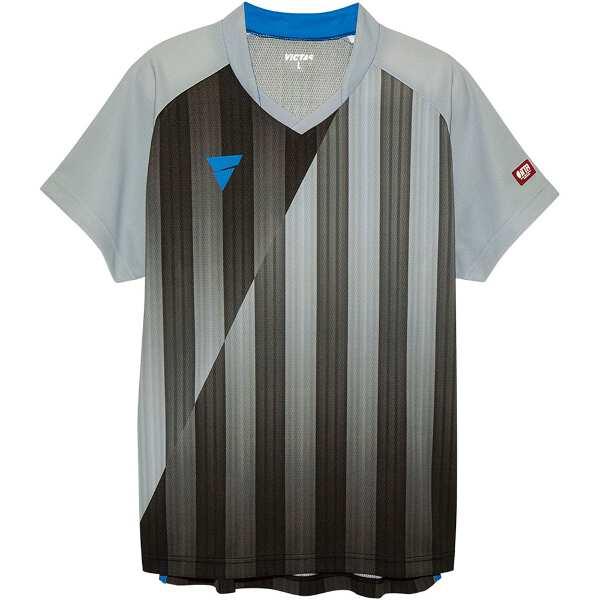 【ビクタス】 V‐NGS052 ユニセックス ゲームシャツ [サイズ:2XS] [カラー:グレー] #031467-0440 【スポーツ・アウトドア:卓球:ウェア:メンズウェア:シャツ】